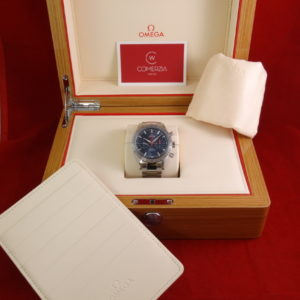 omega speedmaster 57 steel blue chronograph 2789